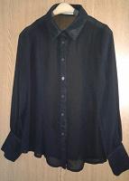 Отдается в дар Шифоновая блуза, черная, размер 44, рост не выше 155см, отличное состояние.