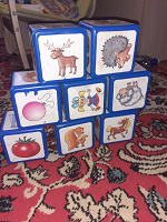 Отдается в дар Кубики пластмассовые