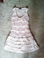 Отдается в дар Вязаное платье. Кремовое. 42 размер.