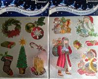 Отдается в дар Наклейки новогодние