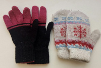 Отдается в дар Варежки и перчатки для девочки