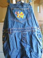 Комбинезон-шорты джинсовый Х L