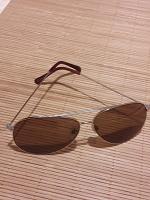 Отдается в дар Солнечные очки в металлической оправе