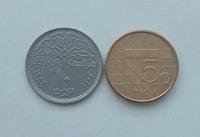Отдается в дар Монета Египта и Нидерландов
