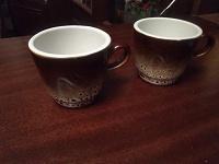 Отдается в дар Две Чашечки керамика и стакан под роспись