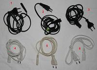 Отдается в дар Снова сетевые шнуры для мелкой электроники и бытовой техники