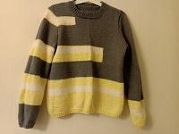 Отдается в дар Пуловер серо-желтый