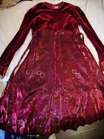 Отдается в дар Бордовое платье