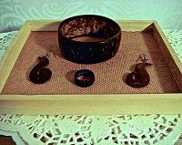 Отдается в дар Комплект бижутерии из кокоса