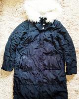 Отдается в дар Куртка пальто пуховик с мехом размер S