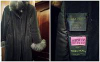 Отдается в дар Пальто женское демисезонное Terra Moda с натуральным мехом ламы (размер 50-52)
