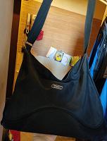 Отдается в дар Спортивная сумка черная на длинном ремне
