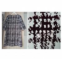 Отдается в дар Платье в стиле ретро а-ля 60-е чёрно-белое размер 46-48, на 44 тоже пойдёт