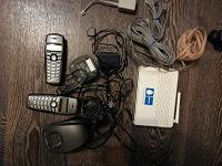 Отдается в дар Роутер МГТС, радиотелефоны и телефонные кабели