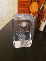 Отдается в дар Роза в стекле