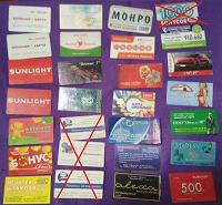 Отдается в дар Пластиковые карты, календарь, купон. В коллекцию.
