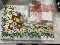 Отдается в дар Пасхальная скатерть и салфетки