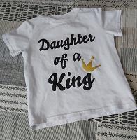 Отдается в дар Футболочка «Дочь короля» 100-104-110