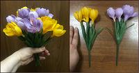 Отдается в дар Крокусы — пластиковые искусственные цветы ритуального назначения
