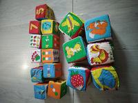 Отдается в дар Мягкие кубики для малышей
