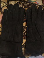 Отдается в дар Перчатки кожаные с мехом мужские