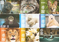 Отдается в дар Календарики Новосибирского зоопарка