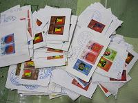 Отдается в дар Марки почты Донбасса (с конвертов)