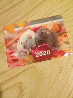 Отдается в дар Календарик на 2020 с крысами и автографом Наташи Правдиной
