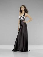 Отдается в дар Вечернее платье с черно-белым рисунком