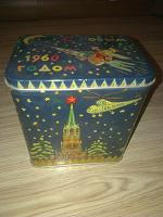 Отдается в дар жестяная коробочка 1960г