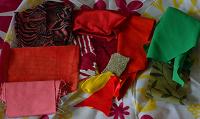 Отдается в дар обрезки ткани для рукоделия