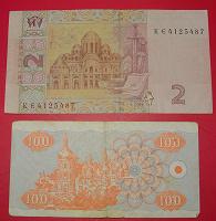 Отдается в дар Банкноты Украины 2 шт