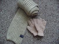Отдается в дар Шарф + перчатки