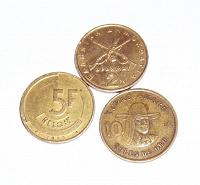 Отдается в дар Монеты Бельгии, Перу, Греции