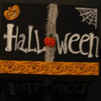 Отдается в дар открытка ручной работы на Хэллоуин