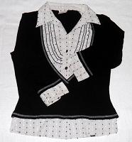 Отдается в дар Черно-белая блуза