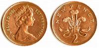 Отдается в дар 2 новых пенса 1978 года Великобритании