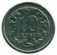 Отдается в дар Монета 10 грошей