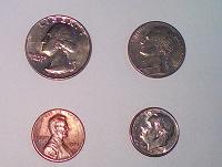 Отдается в дар Набор монет США б/у