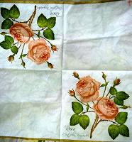 Отдается в дар бумажные салфетки с розой для декупажа