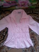 Отдается в дар Красивая нежно- розовая хб блузочка