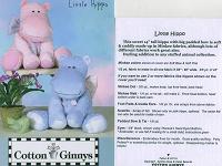 Отдается в дар выкройка прелестного Little Hippo (бегемотика)