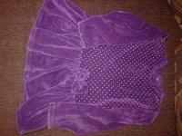 Отдается в дар фиолетовое бархатное платье на 9-12мес.