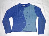Отдается в дар Голубой свитер