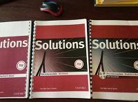 Отдается в дар учебник по англ языку Solutions распечатанный