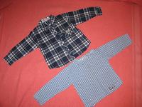 Отдается в дар рубашка и реглан для мальчишки