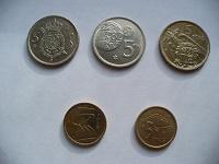 Отдается в дар 5 монет по 5 песет (Испания)