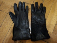 Отдается в дар Перчатки кожаные М