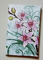 Отдается в дар обложка на паспорт (орхидеи)