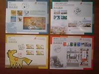 Отдается в дар Карточки с изображениями серий марок